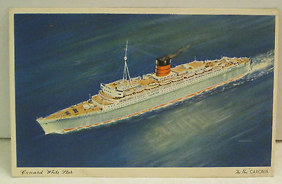 The New Caronia Cunrad Passenger Ship White Star Postcard