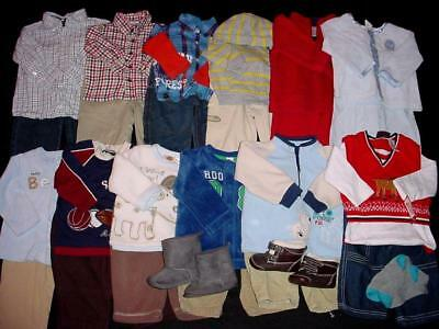 Used Baby Boy 6-9 6-12 Months Fall Winter Outfits Clothes Lot