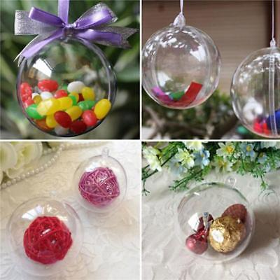 5x Clear Fillable Candy Box Christmas Bauble Xmas Tree Ball Ornament Decor New C