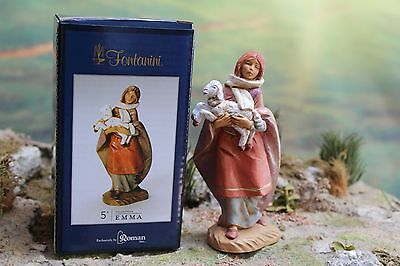 "NEW 5"" Fontanini Nativity Figure SHEPHERDESS EMMA - #54079 w/ Box & Story Card"