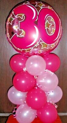 18 FOIL BALLOON AGE 30 30th BIRTHDAY TABLE DECORATION DISPLAY AIRFILL BB