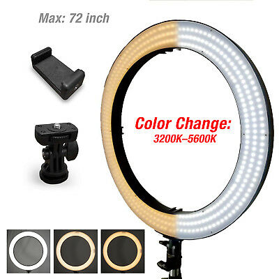 """18"""" LED 50W Dimmable Photography Ring Light Diva Light Continuous Photo Lighting"""