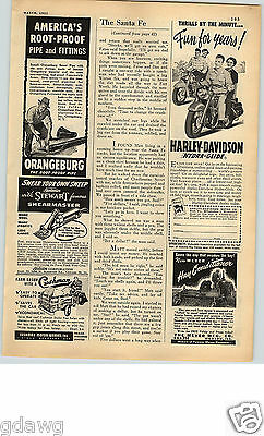 1951 PAPER AD Motorcycle Harley-Davidson Hydra-Glide Farm Ranch Milwaukee