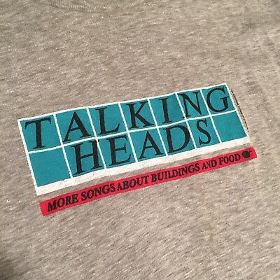 Vintage 1978 THE TALKING HEADS T-SHIRT sz M Spruce Made in USA DEADSTOCK