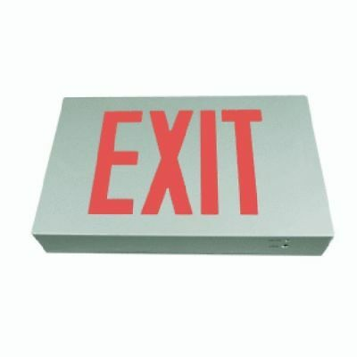 Die-Cast Exit Sign / RED / Battery Back-Up/ E3DRRAL