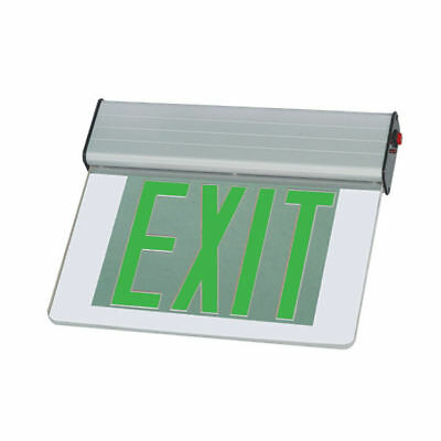 LED EDGE LIT EXIT EMERGENCY LIGHT LIGHTING Clear Double face UL 924