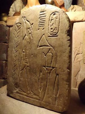Egyptian art Museum replica Relief sculpture Ramses the Great as deified statue