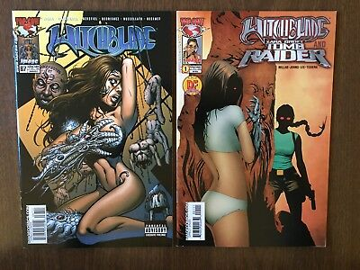 Witchblade (1995) #67 & Witchblade And Tomb Raider (2005) #1 Geoff Johns