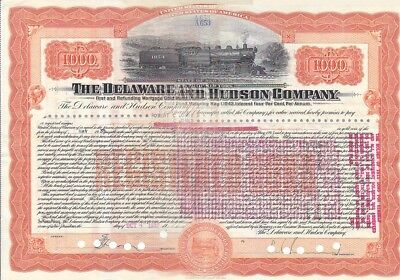 Delaware and Hudson Company NY 1939 Stock Certificate