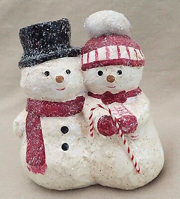 Midwest Of Cannon Falls Teena Flanner Collection Figurine ~ Snowman Pair
