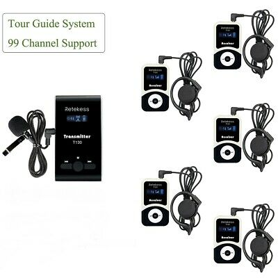 Wireless Tour Guide System Transmitter+5*Receiver for Meeting/Church Translation