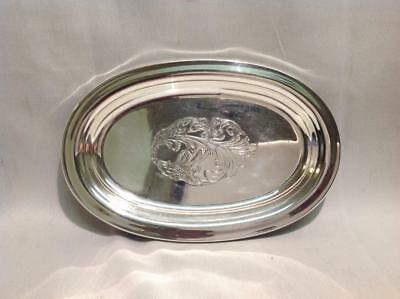 Towle Sterling Silver #270 Oval Tray Ornate Cartouche Center
