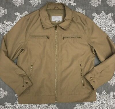 Wilsons Leather Men's Polyester Jacket Tan Full Zip Size XL