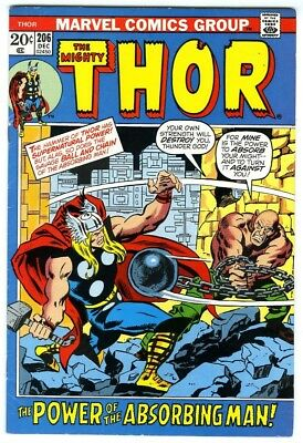 Thor #206 (1972) Fine Marvel Comics