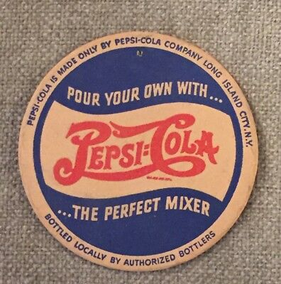 VINTAGE PEPSI-COLA Coaster Pour Your Own With The Perfect Mixer Long Island City