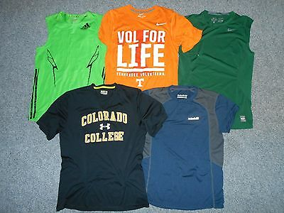 5 Nike Adidas Under Armour Avalanche Mens Small Athletic Base Shirts Lot