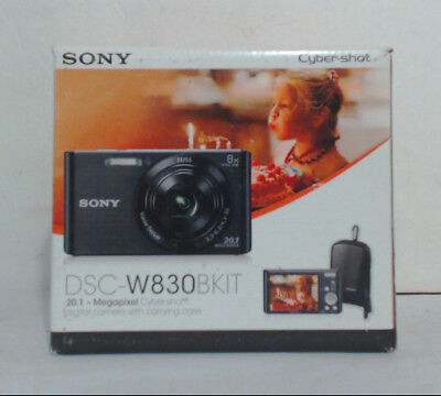 NEW OPEN BOX Sony DSC-W830 20.1 MP 8x Digital Camera with Carrying Case