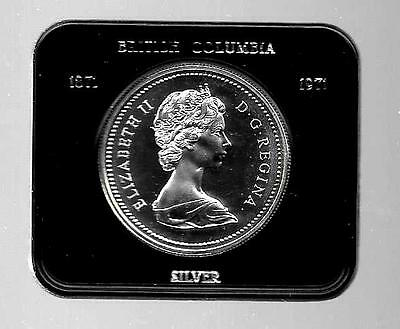 Canadian Silver Dollar With Case British Columbia Commemorative   Lot A-17