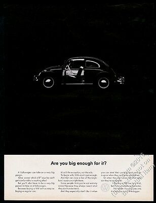 1964 VW Beetle classic car photo Are You Big Enough For It? Volkswagen 13x10 ad