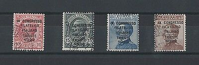 Italy 1922 Congress Philathelic Trieste SG 122/5 Used Set Bargain