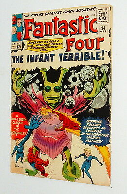 1965 Fantastic Four Issue #24  Comic Book 1.5 Condition