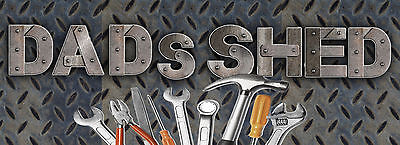 """Dads Shed 11""""x4"""" Metal Sign: Home Decor:man Cave: Shed: Birthday:christmas Gift"""