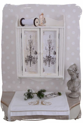 Wall Cabinet Shabby Chic Wall Cupboard Wall Cabinet White Vintage