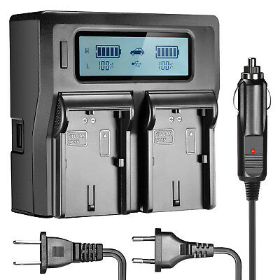 Neewer Dual LCD Battery Charger for Canon LP-E6 Batteries