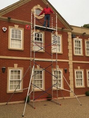 SUPER 7m DIY Aluminium Scaffold Tower/Towers - Made in EU - others made in China