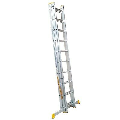 Aluminium Trade Master EN131 2 & 3 Section Extension Ladders FREE STABILISER BAR