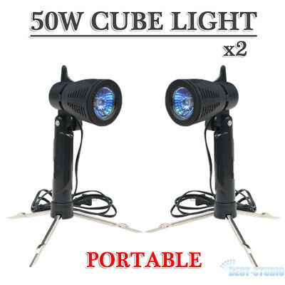 Portable Photography Photo Studio 2x50w Cube Light Lamp For Cube Tent Lighting