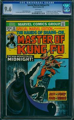 Special Marvel Edition # 16 2nd Master of Kung Fu !  CGC 9.6 scarce book !