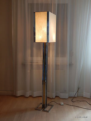 Stehlampe Willy Rizzo BF Bicolor Messing Chrom 70er Jahre Floor Lamp Italien
