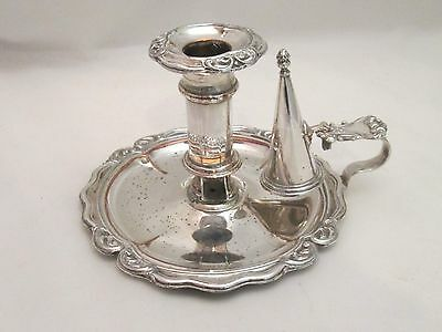 An Old Sheffield Plate Chamber Candlestick c1800