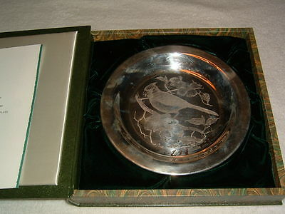 "Franklin Mint Sterling Silver ""The Cardinal"" Richard Younger LE #2828 Plate"