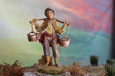 "5"" Fontanini Nativity VILLAGER NOAH Depose Italy 2001 w/ Box & Story - NICE!!!"