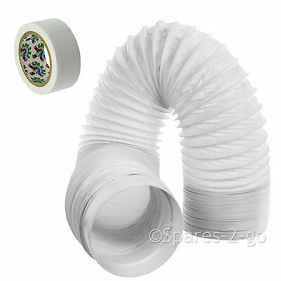 """UNIVERSAL 6m Air Conditioner Conditioning Vent Hose Pipe PVC Duct 5"""" Extension"""