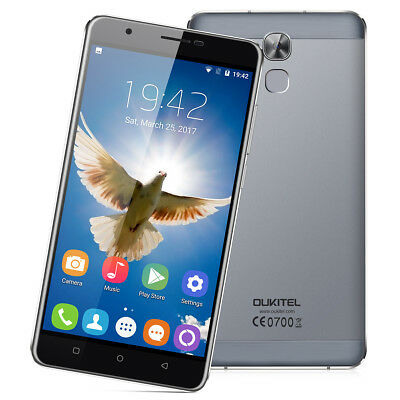 """32GB 6""""OUKITEL U16 Max 4G Smartphone Android7.0 OctaCore Touch ID Móvil Teléfono"""