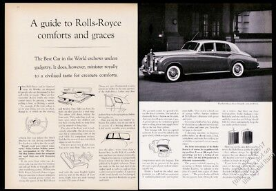 1960 Rolls Royce Silver Cloud II car photo A Guide to RR Comforts and Graces ad