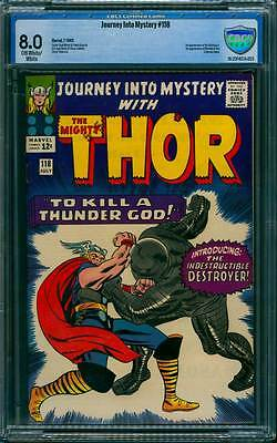 Journey into Mystery # 118 1st app of the Destroyer !   CBCS 8.0 scarce book !