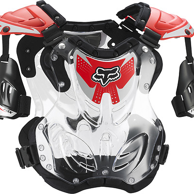 NEW Fox Racing R3 Roost Deflector Chest Protector MX Moto ATV Red SIZE MEDIUM