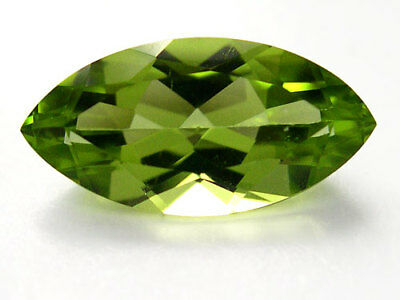 A PAIR OF 6x3mm MARQUISE-FACET STRONG-GREEN NATURAL AFGHAN PERIDOT GEMSTONES