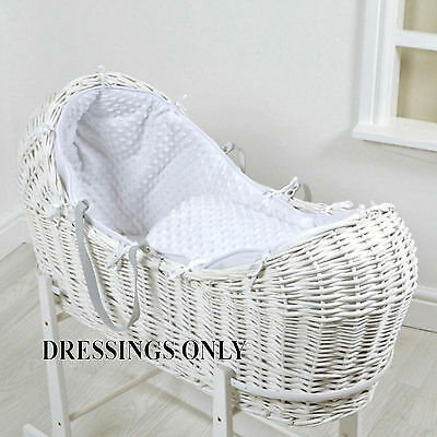 New 4Baby White Dimple Snooze Pod Basket Dressings Extra Basket Cover