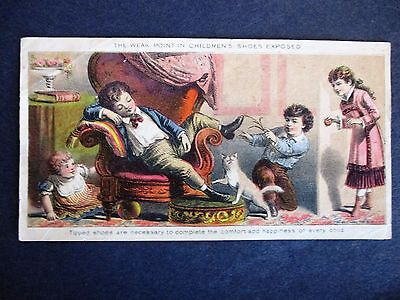 VICTORIAN TRADE CARD C1880 Fitzwilliam N.H. Child's' Shoes Multicolor litho-