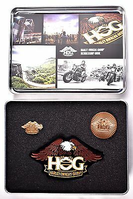 Harley Davidson Owners Group HOG Welcome Kit- Patch, Pin, Coin, Membership Guide