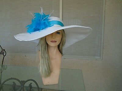 turquoise Kentucky derby hat