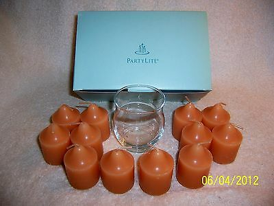 Partylite Ginger Pumpkin Votive Gift Set -- RETIRED