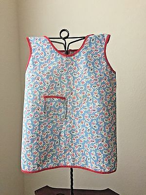 Vintage 1930-40's Child's Apron, Handmade, Cotton, Red, Blue, Green, White