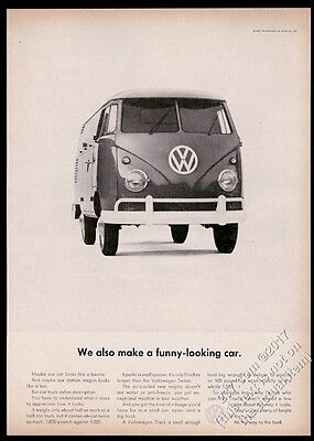 1961 VW Kombi bus photo We Also Make A Funny Looking Car Volkswagen ad