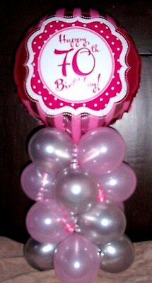 18 Foil Balloon Table Display Decoration Air Fill